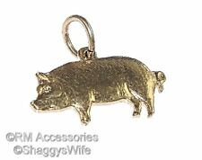 Pig Charm / Pendant EP Gold Plated Jewelry Gifts with a Lifetime Guarantee!