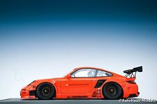 1/18 AB Models Porsche 911 LB Performance Liberty Walk in Orange Black Hood