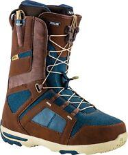 New 2017 Nitro Anthem TLS Snowboard Boots Mens 10.5 Chocolate / Dark Blue