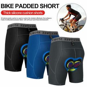 Mens 4D Gel Padded Bicycle Cycling Bike Underwear Short Pants Riding Shorts Soft