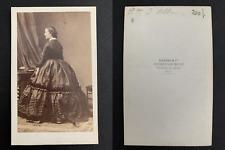 Disdéri, Paris, Duchesse d'Albe, sœur d'Eugénie de Montijo Vintage alb