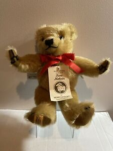 """Merrythought 11"""" Hand Signed Limited edition Jointed Bear with Tag. 918/1,000."""