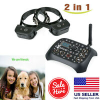 Dog Training Shock 2 Collar Fence Pet Outdoor Wireless Electric Trainer System