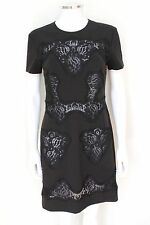 DOLCE & GABBANA Lace Cut Out Black Shift Dress It 40 Uk 8