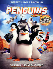 PENGUINS OF MADAGASCAR (Blu-ray/DVD, 2015, 2-Disc, Digital Copy) NEW WITH SLEEVE