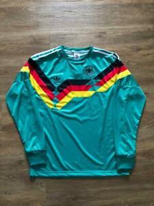 GERMANY AWAY RETRO SHIRT 1991 LONG SLEEVE, Sizes S M L XL 2XL