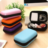 1×Portable Square Wallet Travel Cable Earphone Phone Charger Storage Case Pouch
