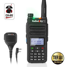 Radioddity GD-77 Dual Band Tier II DMR Digital Analog Walkie Talkie + Speaker