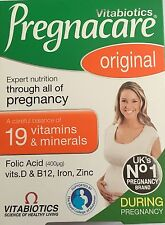 2x Vitabiotics Pregnacare Original 30 Tablets Pregnancy Vitamin & Supplement