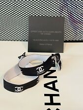 NEW Authentic Chanel Hair VIP Gift Ponytail/Hair Ties 2 PIECE SET   Black