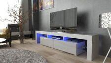 Mueble TV gabinete de TV Soporte de la TV más de alto brillo Gris blanco 200cm