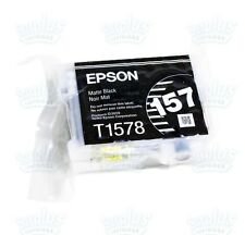 Genuine Epson 157 Matte Black Ultrachrome K3 Ink T157 T1578 Stylus Photo R3000