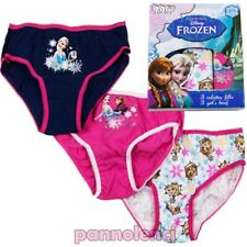 Caleçon Slips Trois Pièces Culotte Fille Bébé Frozen Disney Coton Neuf EP3051
