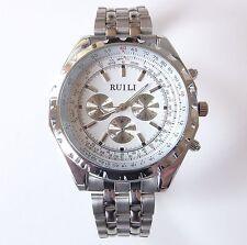 Markenlose Armbanduhren aus Edelstahl mit Chronograph