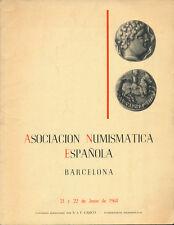 HN A.N.E. Associacion Numismatica Espanola Barcelona Junio 1968 Catalogo Calicò