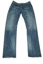 Rogan Mens Straight Denim Distressed Blue Medium Wash Jeans 32x34