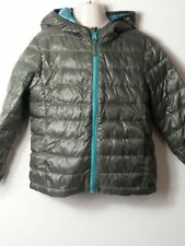 BOYS UNIQLO AGE 3-4 YEARS GREEN HOODED QUILTED COAT JACKET KIDS