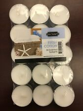 Fresh Cotton tealight candles 30 Pack fabulous aroma MADE in the USA