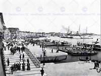 THE PORT OF VENICE ITALY 1896 VINTAGE HISTORY OLD BW PHOTO PRINT POSTER 742BWB