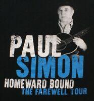 Paul Simon Homeward Bound Farewell Tour 2018 Concert black t shirt, Size XL