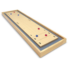 GoSports Shuffleboard and Curling 2 in 1 Table Top Board Game With 8 Rollers