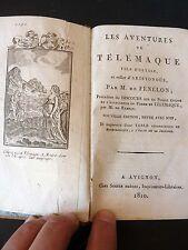 LES AVENTURES DE TELEMAQUE par FENELON - 1810 - SEGUIN FR AVIGNON