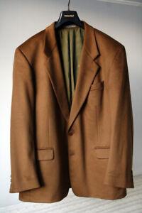 Kenzo Homme Vintage 100% Cashmere Camel brown Blazer Jacket 54