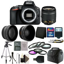 Nikon D5600 24.2 MP Digital SLR Camera with 18-55mm Lens + 32GB Accessory Kit