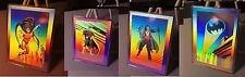 4 RARE Batman Robin II Joker & Gotham Hologram Cards - 1991 DC Comics #1-4 NM/MT