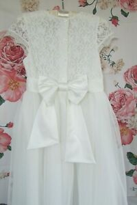 Ivory Lace Flower Girl Bridesmaid Party Occasion Dress 10-11 JOHN ROCHA £49
