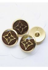 Lot Of Four (4) Brown Gold LV Flower Classic Buttons, 17mm