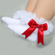 BABY Kids Girls Princess Casual Sock Lace Ruffle Frilly Dress Cotton Ankle Socks