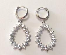 Formal Teardrop shaped clear crystal earrings