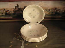 Royal China Co. Vintage Dessert Dishes Set of Five 5  Blue Flower Buds