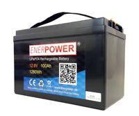 Akku LiFePO4 12V 100Ah 1280Wh Solar Elektro Boot Bluetooth Display BMS