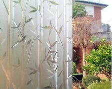 90 CM x 1 M - Bamboo Reapply / Glueless Static Frosted Window Glass Film