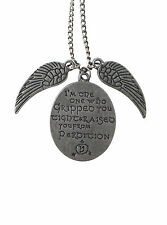 NEW! Supernatural Castiel Perdition Quote Angel Wing Charm Necklace Pendant