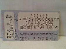 Prince Concert Ticket Stub 3-30-1993 Toronto Maple Leaf Gardens - Rare