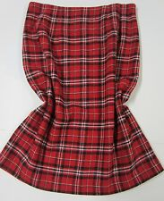 Vintage JG HOOK Red Black White Tartan Plaid Straight  PENCIL SKIRT Sz 6