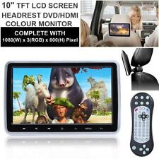 "HDMI In Car Headrest Monitor DVD Player 10"" Digital Screen Game DVD/USB/SD/FM UK"