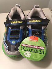 Teenage Mutant Ninja Turtles Light Up Sneaker Shoes Boys Size 10 NEW!
