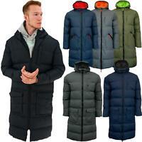 Soulstar Mens Banana Parka Padded Jacket Jibber Puffer Long Jackets Hooded Coat