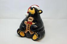 Jeff Fleming Big Sky Carvers BearFoots Bear Christmas Cookie Jar