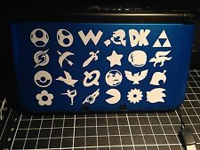√ 1x SUPER SMASH BROS CHARACTER LOGOS DECAL FOR 3DS XL GAME CONSOLE!! √