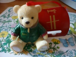 HARRODS 2020  CHRISTMAS RESIN BEAR NICHOLAS  NEW LABELLED  PERFECT