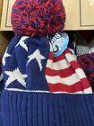 American Flag Cuffed Knit USA Flag Patriotic Unisex Beanie Hat