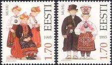 Estonia 1995 trajes tradicionales/Ropa/Textil/Diseño/Heritage 2 V Set ee1103