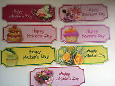 7 HAPPY MOTHER'S DAY BANNER CARD MAKING SCRAPBOOKING EMBELLISHMENTS CLEARANCE