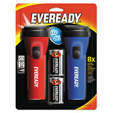 """""""Eveready Led Economy Flashlight, Red/blue, 2/pack"""""""