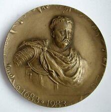 KING SOBIESKI VIENNA ANTI-TURKISH WAR OTOMAN POLISH POLAND Bronze Medal #1 N117
